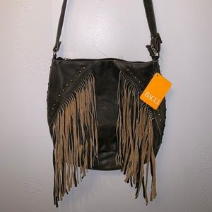 Handbags - Leather Fringe Bag